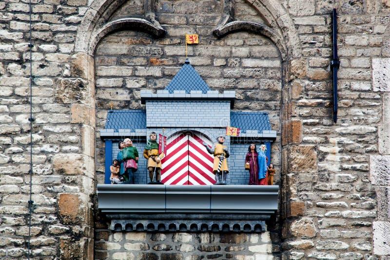 Het beeldhouwwerk in Gouda stock afbeeldingen