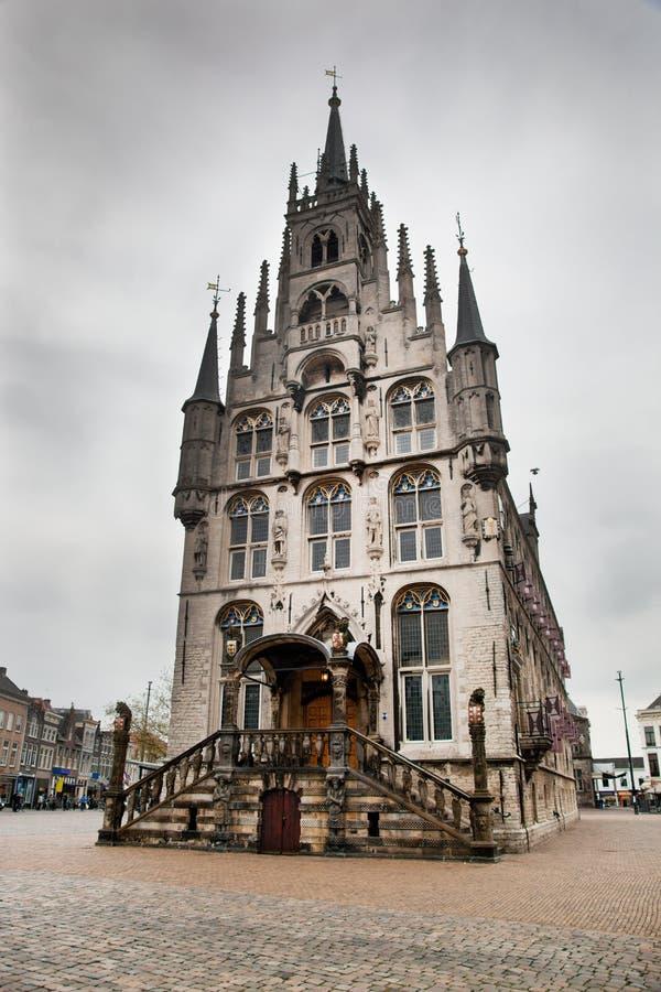 Het beeldhouwwerk in Gouda royalty-vrije stock foto