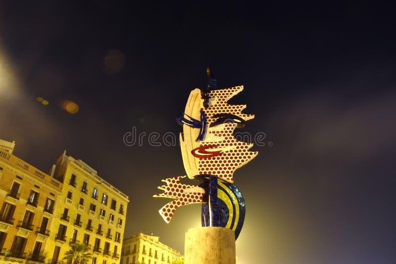Het beeldhouwwerk van Barcelona stock fotografie