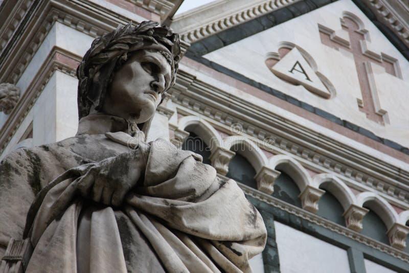 Het beeldhouwwerk van Dante in Florence royalty-vrije stock afbeeldingen