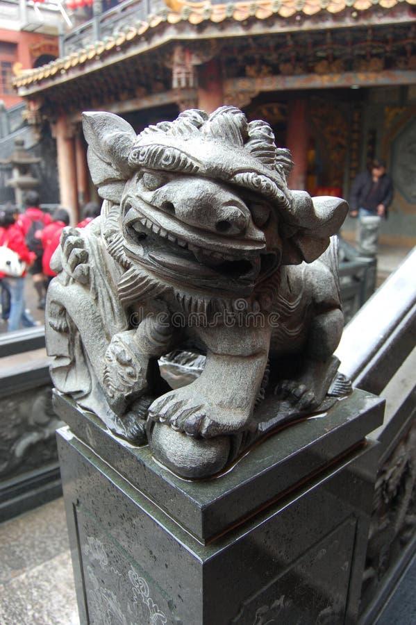 Het beeldhouwwerk van de draak royalty-vrije stock foto