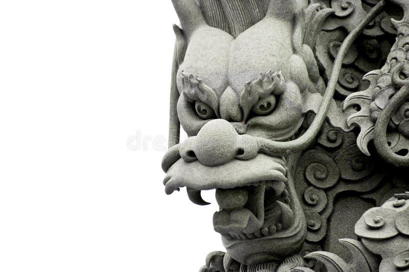 Het Beeldhouwwerk van de draak royalty-vrije stock fotografie