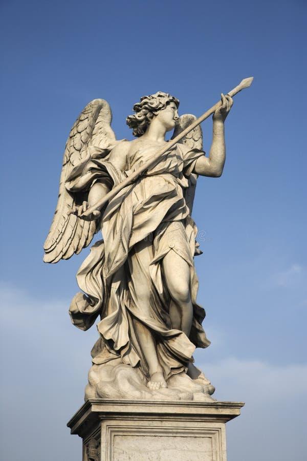 Het beeldhouwwerk van de engel in Rome, Italië. royalty-vrije stock afbeelding