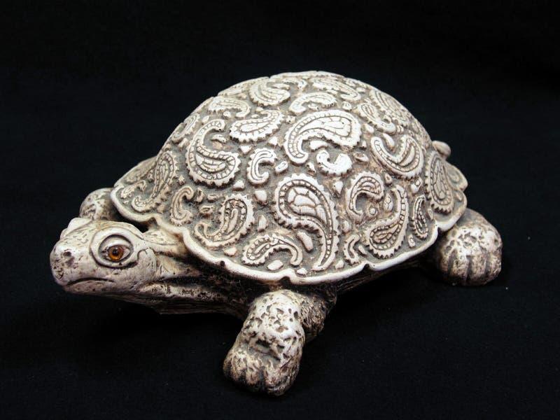 Het Beeldhouwwerk van de de Werfschildpad van Paisley stock foto