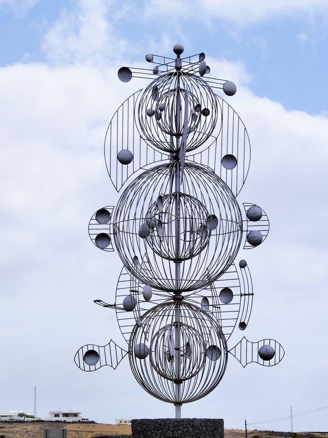 Het Beeldhouwwerk van de wind stock afbeeldingen