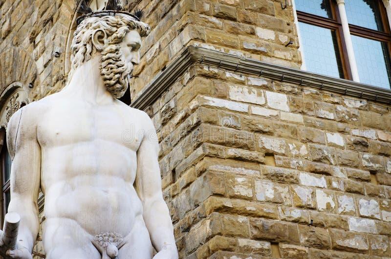 Het Beeldhouwwerk van hercules en Cacus-in Piazza della Signoria in Florence, Italië royalty-vrije stock fotografie