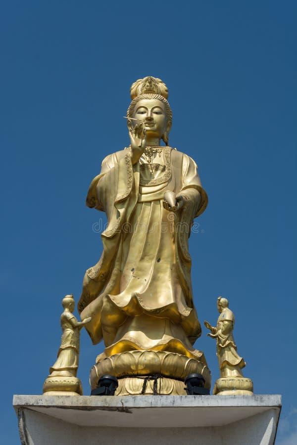 Het beeldhouwwerk van het Guanyinbrons stock afbeelding