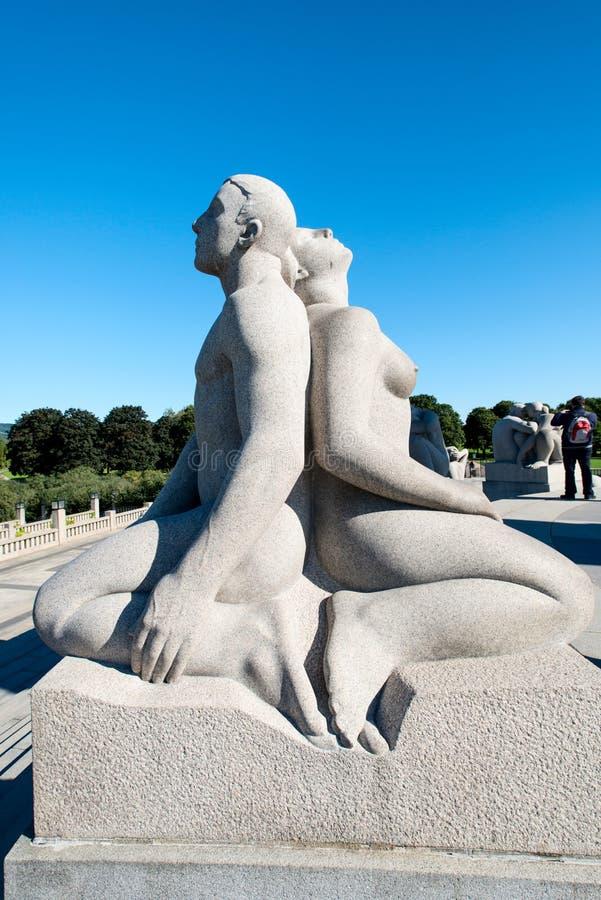 Het beeldhouwwerk van het Vigelandpark stock afbeelding