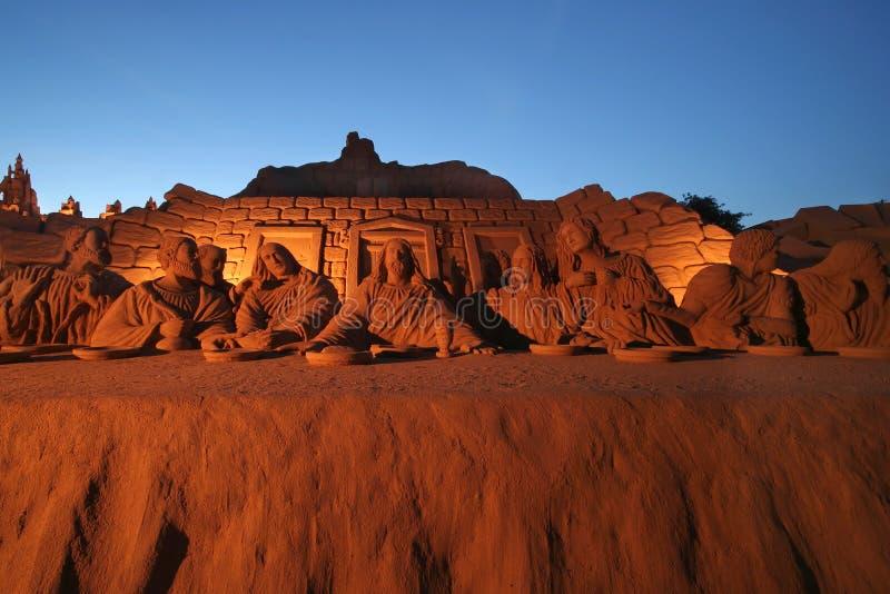Het beeldhouwwerk van het zand royalty-vrije stock afbeelding