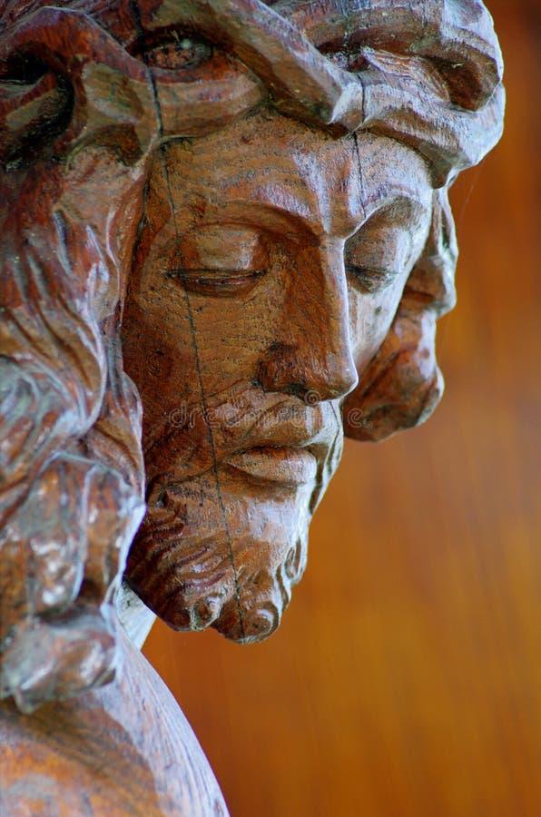 Het beeldhouwwerk van Jesus-Christus stock foto's