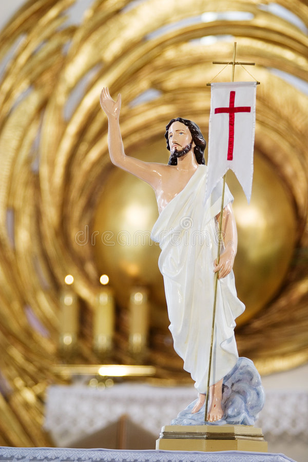 Het beeldhouwwerk van Jesus-Christus in Cath royalty-vrije stock foto