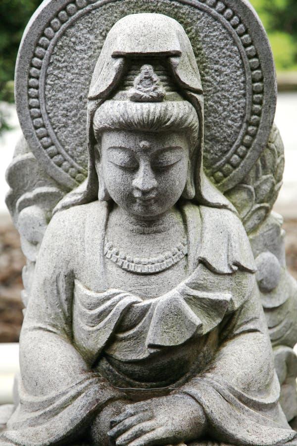Het beeldhouwwerk van Kwan Yin van de godin royalty-vrije stock afbeeldingen