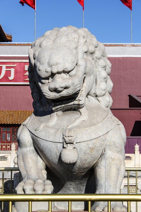 Het beeldhouwwerk van pi Xiu stock fotografie