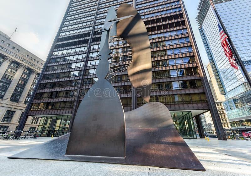 Het Beeldhouwwerk van Picasso in Chicago royalty-vrije stock foto's