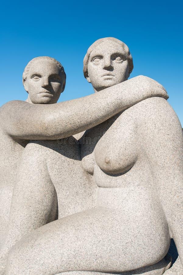 Het beeldhouwwerkvrouw van Vigeland stock foto