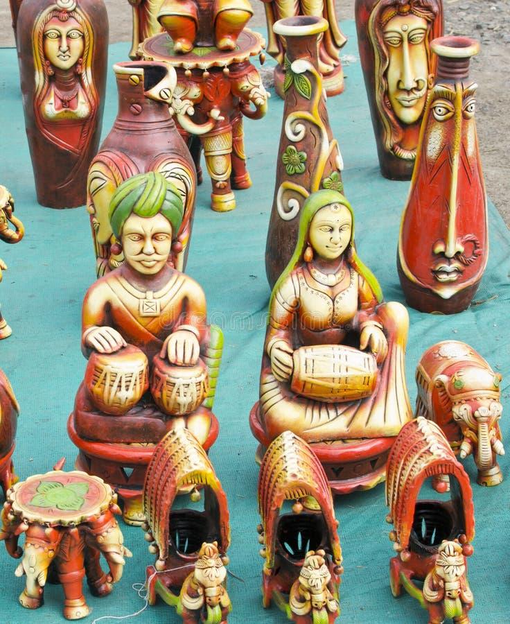 Het Beeldje van terracottamucisians royalty-vrije stock foto