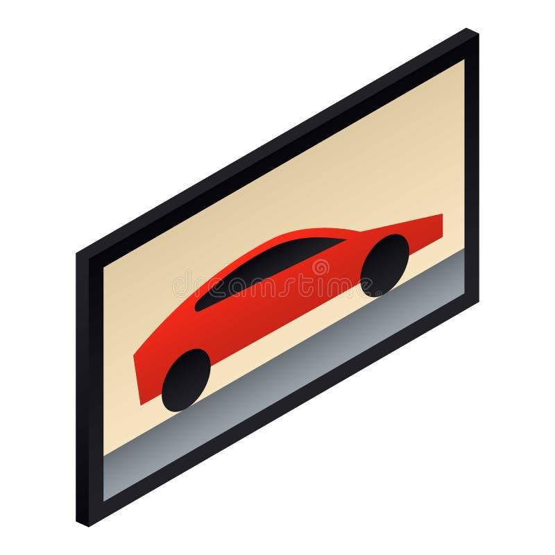 Het beeldpictogram van de automuur, isometrische stijl royalty-vrije illustratie