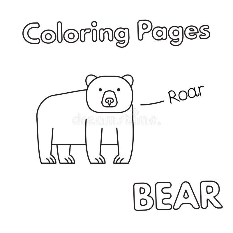 Het beeldverhaal draagt kleurend Boek vector illustratie