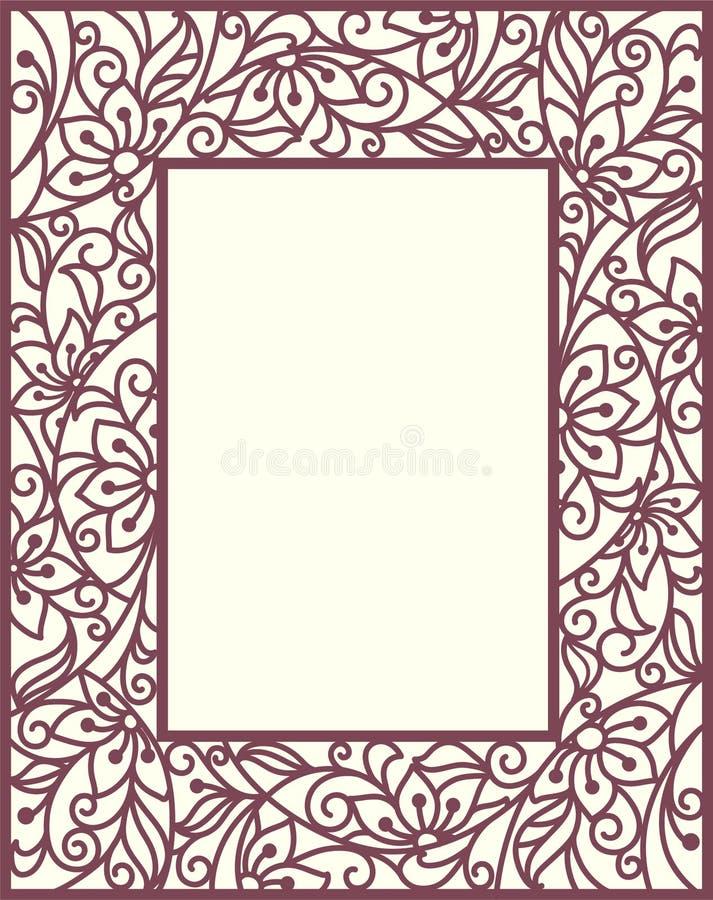 Het Bloemenkader Van Stylization Stock Afbeeldingen