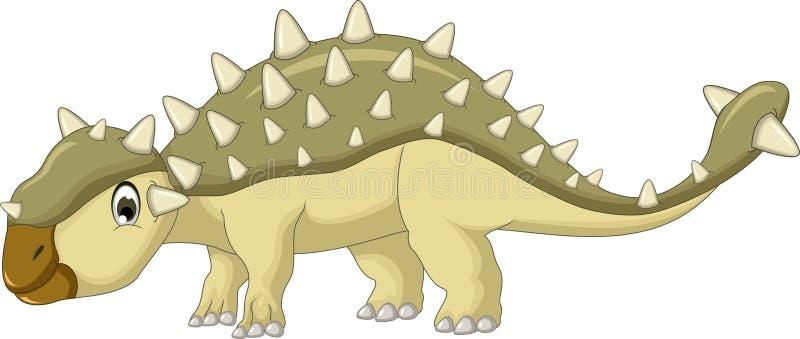 Het beeldverhaal van de Ankylosaurusdinosaurus stock illustratie