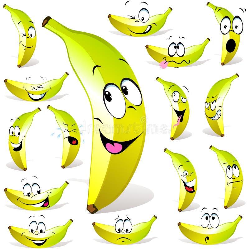 Het beeldverhaal van de banaan royalty-vrije illustratie