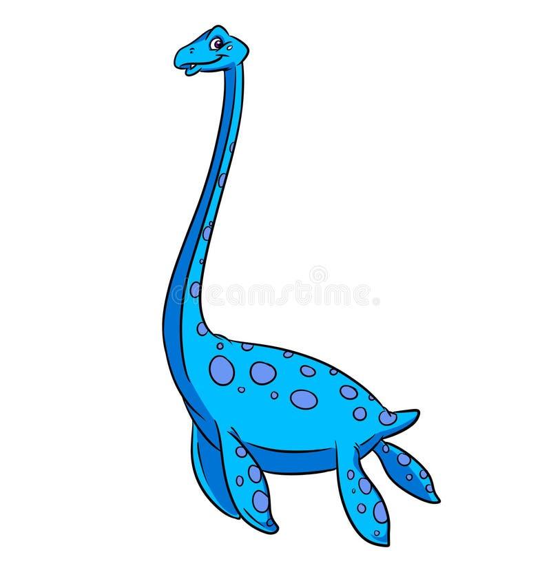 Het beeldverhaal van de Elasmosaurinedinosaurus stock illustratie