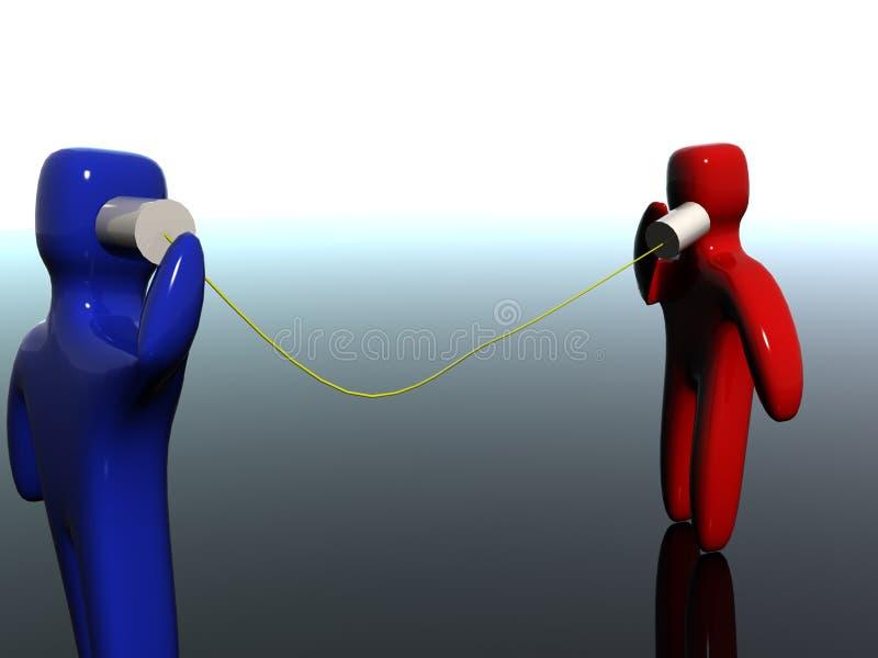 Het beeldverhaal van de het bliktelefoon van het tin royalty-vrije illustratie