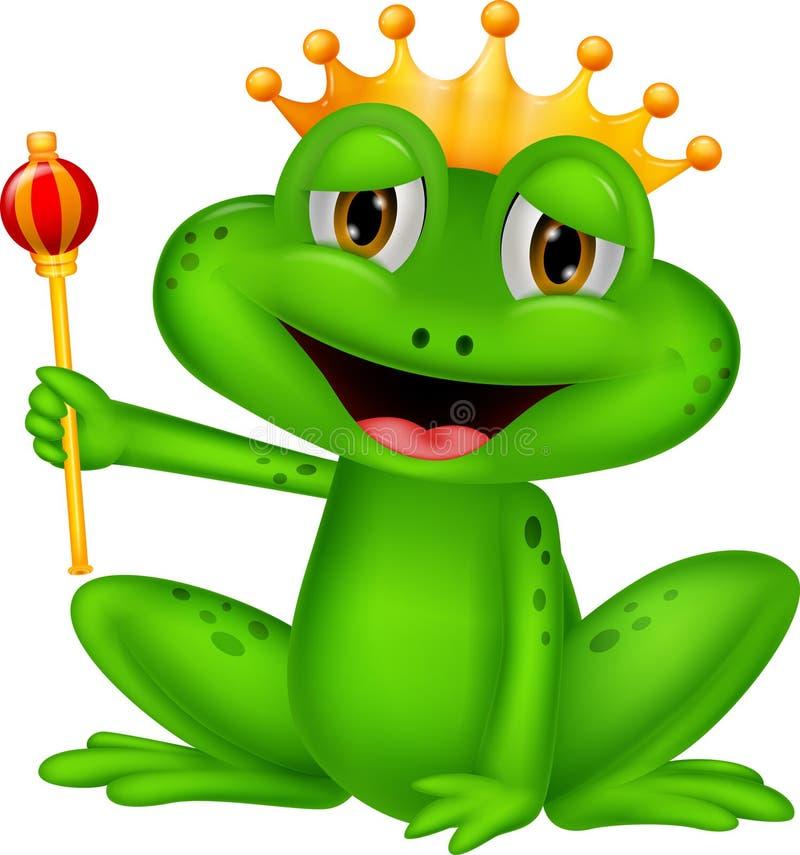 Het beeldverhaal van de kikkerkoning royalty-vrije illustratie