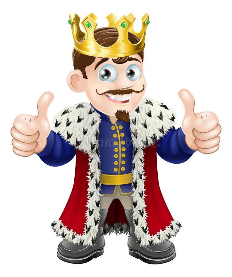 Het beeldverhaal van de koning vector illustratie