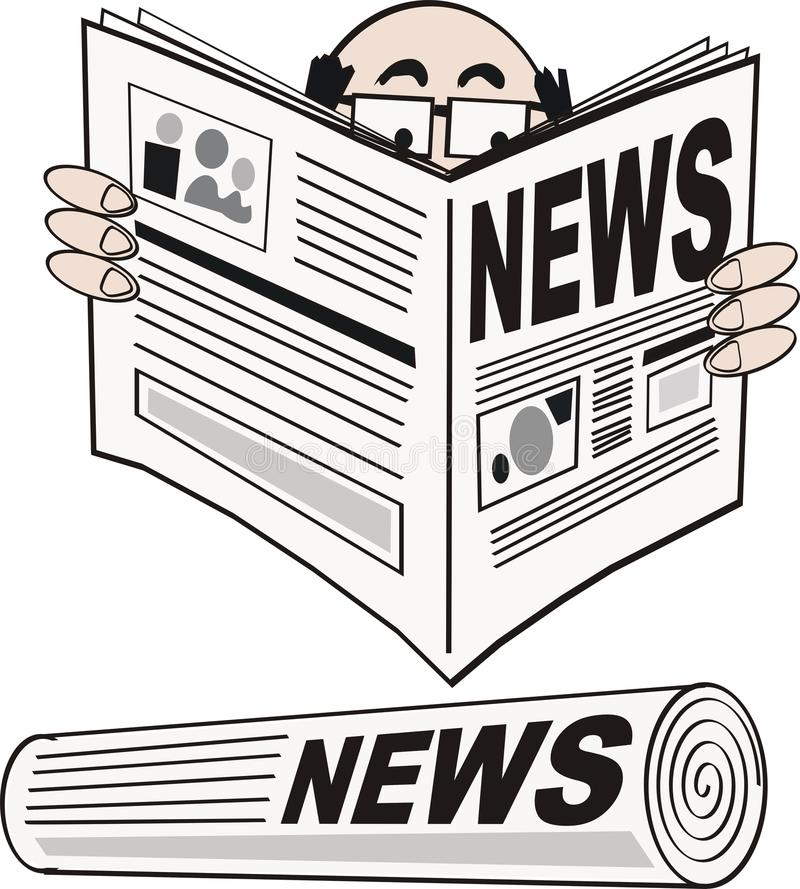Het beeldverhaal van de krant royalty-vrije illustratie
