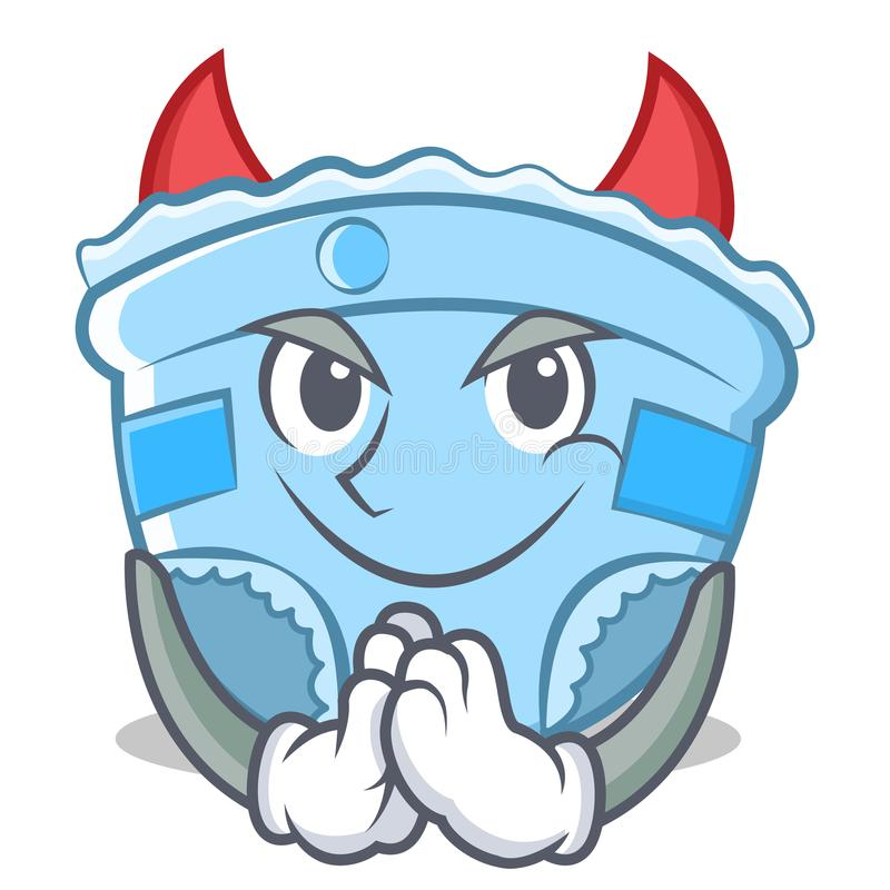Het beeldverhaal van het de luierkarakter van de duivelsbaby vector illustratie
