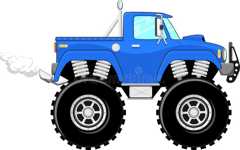 Het beeldverhaal van de monstervrachtwagen 4x4 royalty-vrije illustratie