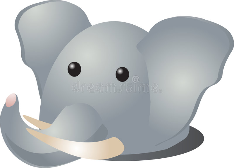 Het beeldverhaal van de olifant royalty-vrije illustratie