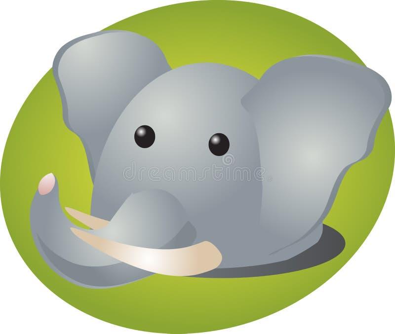Het beeldverhaal van de olifant stock illustratie