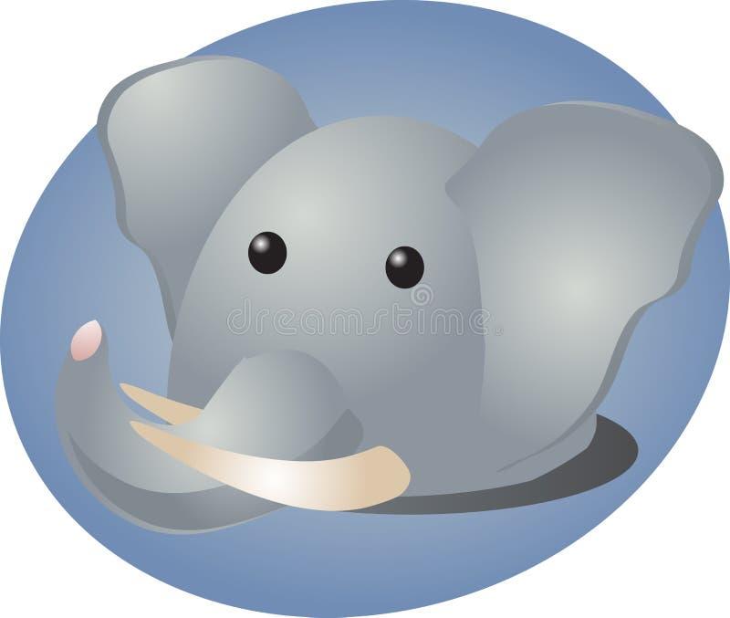 Het beeldverhaal van de olifant vector illustratie