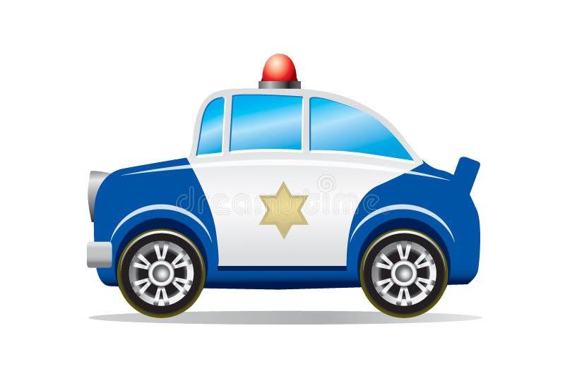 Het beeldverhaal van de politiewagen   stock illustratie
