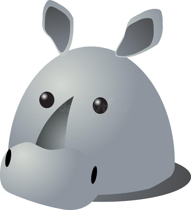 Het beeldverhaal van de rinoceros vector illustratie