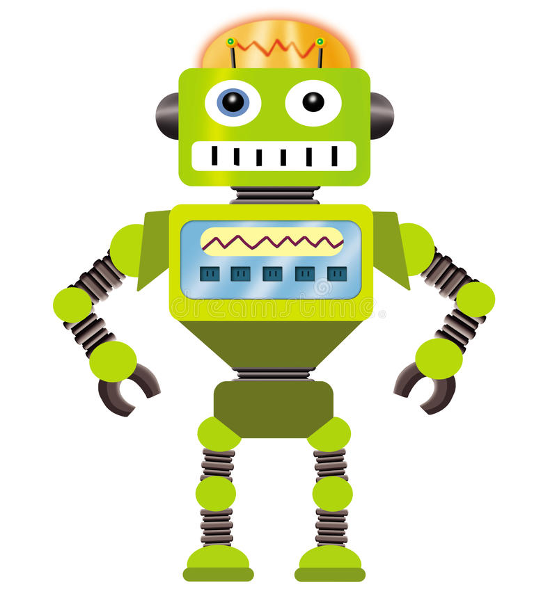 Het beeldverhaal van de robot royalty-vrije illustratie