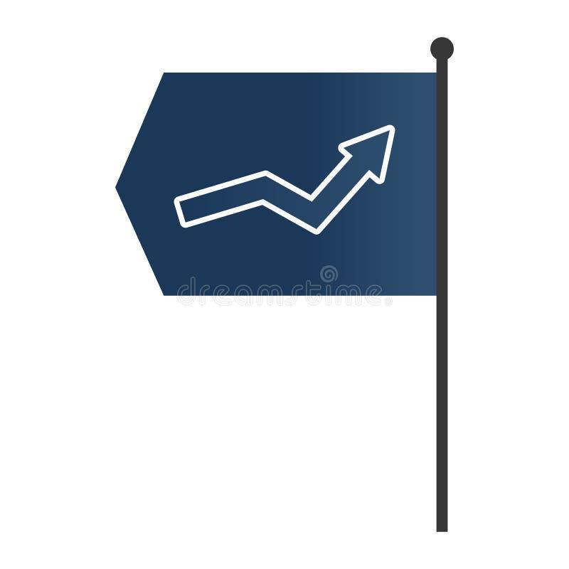 Het beeldverhaal van de succespijl vector illustratie
