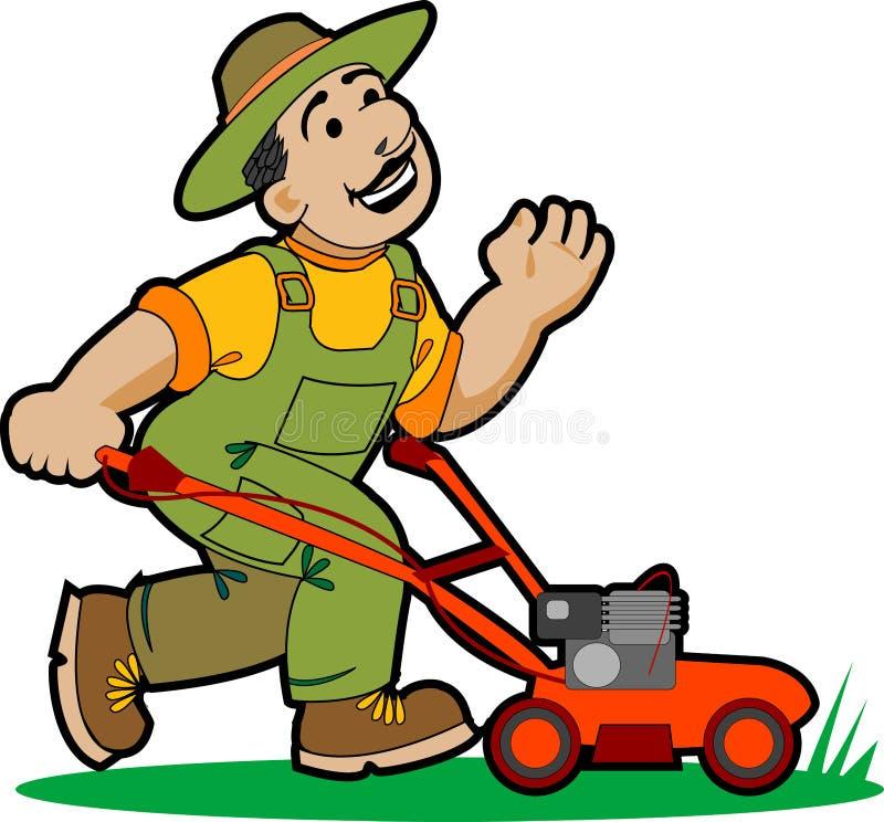 Het beeldverhaal van de tuinman. vector illustratie