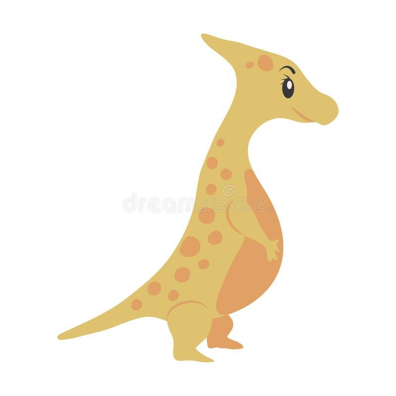 Het beeldverhaal van dinosaurusparasaurolophus royalty-vrije illustratie