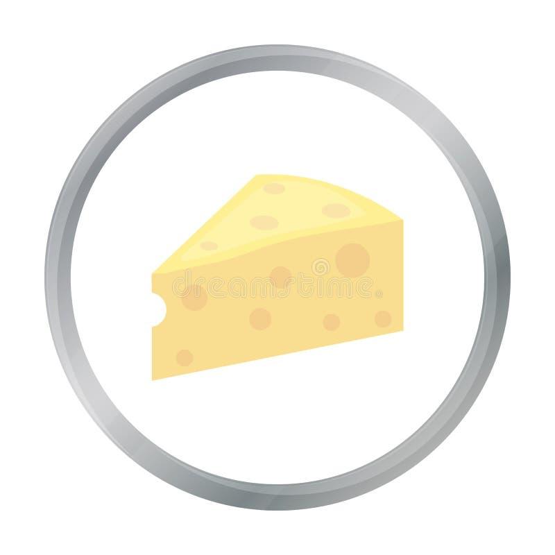 Het beeldverhaal van het kaaspictogram Enige bio, eco, biologisch productpictogram van het grote melkbeeldverhaal vector illustratie