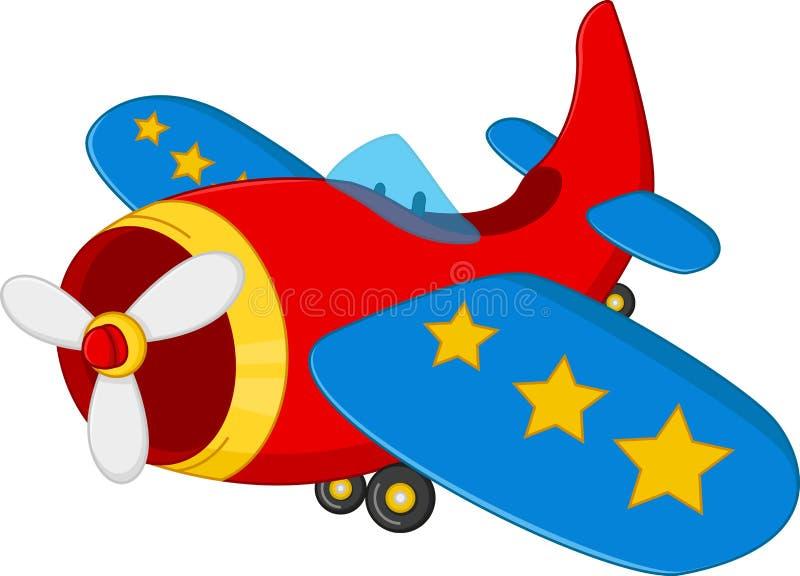 Het beeldverhaal van het luchtvliegtuig stock fotografie
