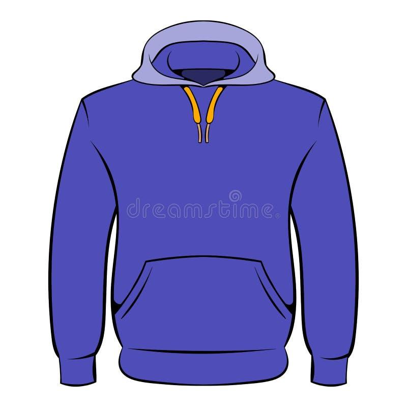 Het beeldverhaal van het mensen hoodies pictogram stock illustratie