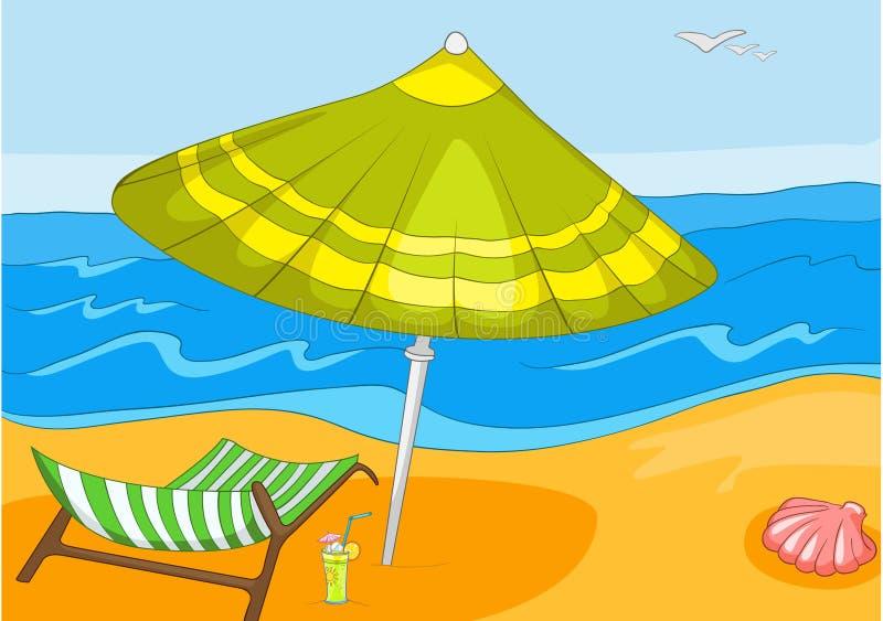 Het Beeldverhaal van het strand vector illustratie