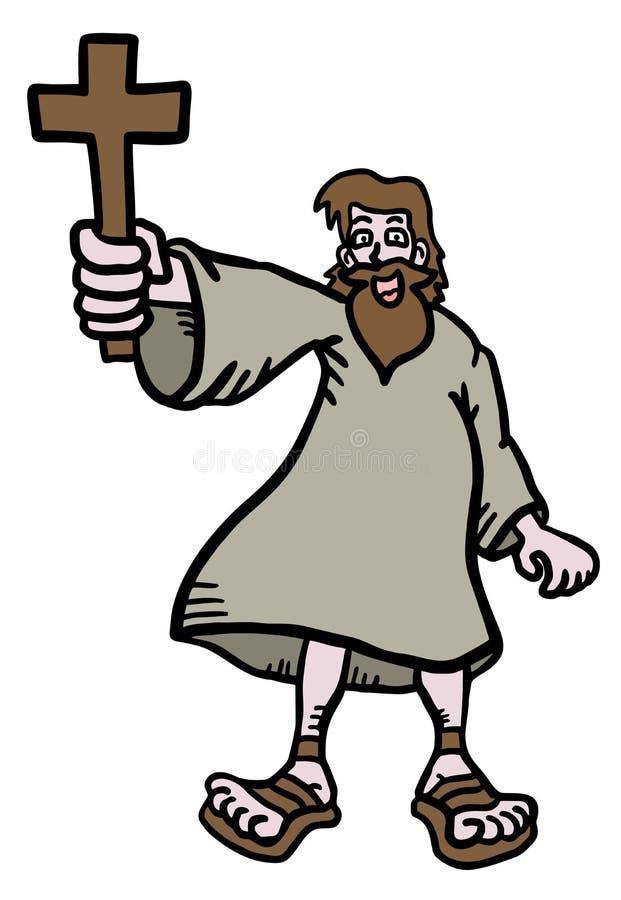 Het beeldverhaal van Jesus stock illustratie