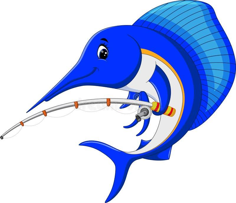 Het beeldverhaal van marlijnvissen vector illustratie