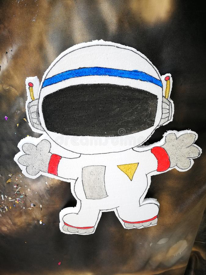Het beeldverhaal van het ruimtevaartuigpunt in studentenraad stock afbeelding