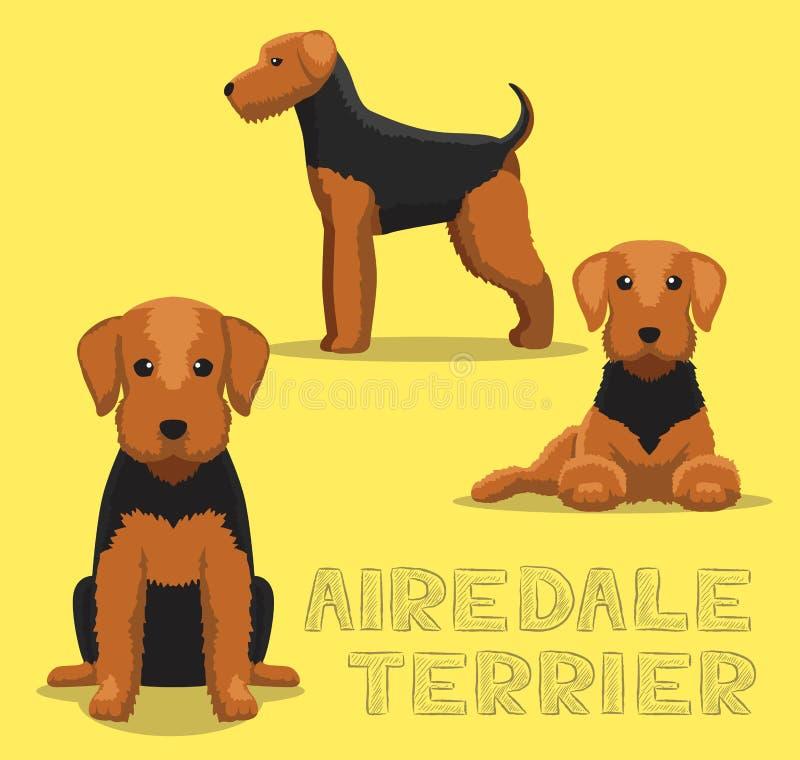 Het Beeldverhaal Vectorillustratie van hondairedale Terrier royalty-vrije illustratie