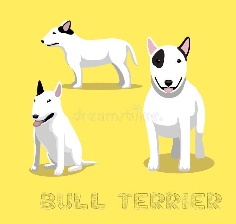 Het Beeldverhaal Vectorillustratie van hondbull terrier royalty-vrije illustratie